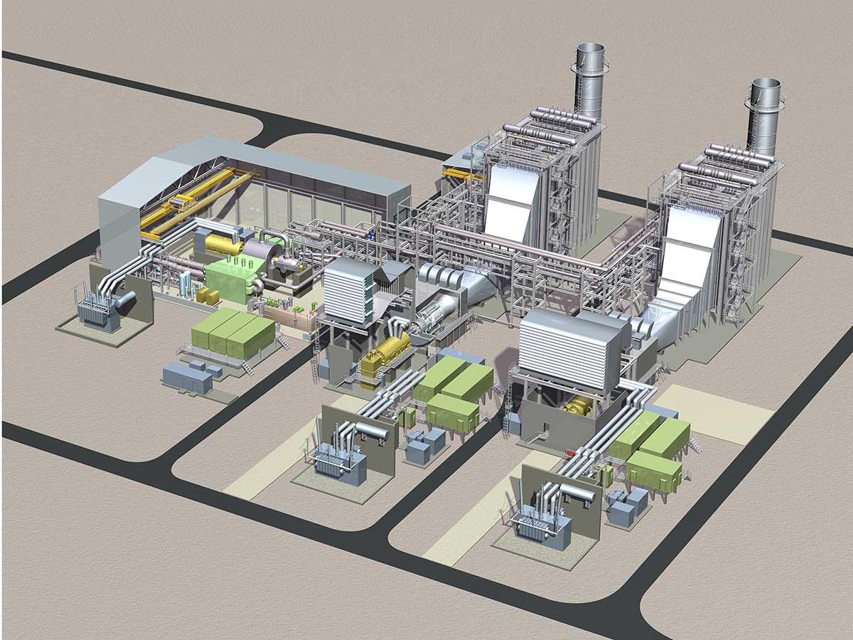 Novi Charles City Combined Cycle Gas Turbine Plant on Plant Diagram